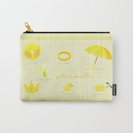Colors: yellow (Los colores: amarillo) Carry-All Pouch