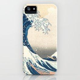 The Great Wave off Kanagawa by Katsushika Hokusai from the series Thirty-six Views of Mount Fuji iPhone Case