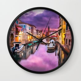 Canals of Venice Wall Clock