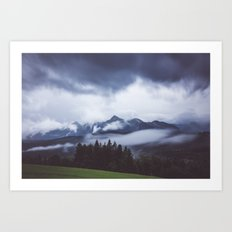 Weather break Art Print