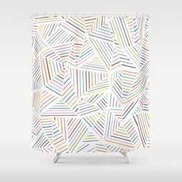 Ab Linear Rainbowz Shower Curtain