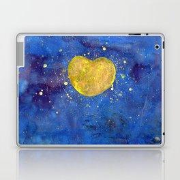 Heart shape Full Moon in the Universe Laptop & iPad Skin