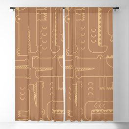 Minimalist Crocodile Blackout Curtain