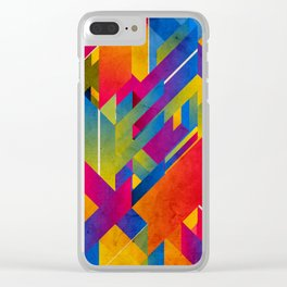 Geometric Play Clear iPhone Case