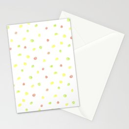 poki dots pastel Stationery Cards