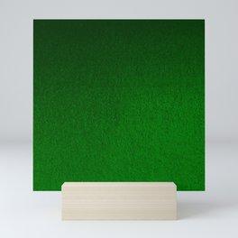 Emerald Green Ombre Design Mini Art Print