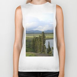 Yellowstone River Valley View Biker Tank