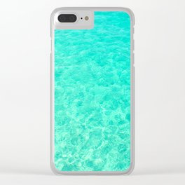 Turquoise Blue Ocean Clear iPhone Case