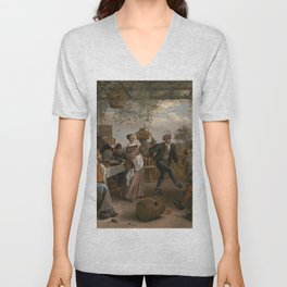 Jan Steen The Dancing Couple 1663 Painting Unisex V-Neck