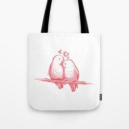 PINK LOVE BIRDS Tote Bag
