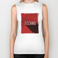 techno Biker Tanks featuring Techno by Barbo's Art