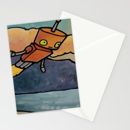 Robot - Palos Verdes Clouds Stationery Cards