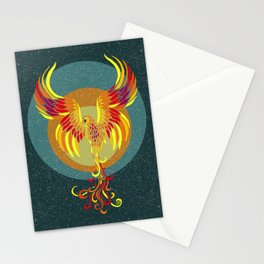 Fire Phoenix Stationery Cards