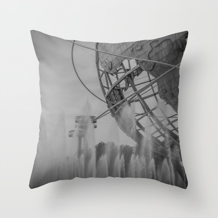 flushing... Throw Pillow
