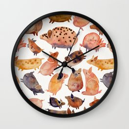 Pig Collection Wall Clock