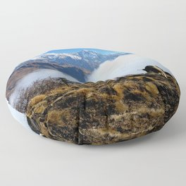 Panoramic View Of Everest Mountain Floor Pillow