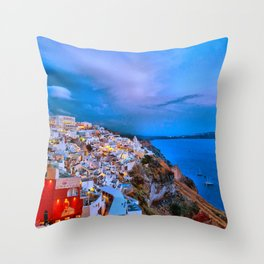 Santorini 7 Throw Pillow