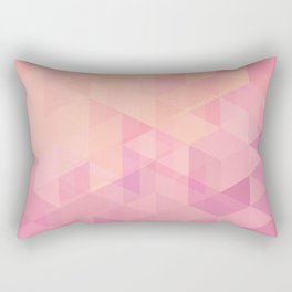 Geometric Pink  Rectangular Pillow