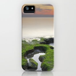 """""""Green, white and red beach"""" iPhone Case"""