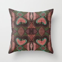 WOVEN SNAKE HEARTS Throw Pillow
