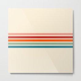 Minimal Abstract Retro Stripes 70s Summer Style - Yoshiie Metal Print