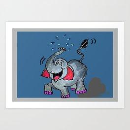 The Elephant Splash Art Print