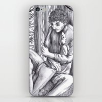 abigail larson iPhone & iPod Skins featuring Hannibal - Abigail and Will  by Furiarossa