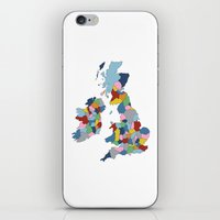 uk iPhone & iPod Skins featuring UK by Project M