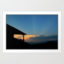 Sweet Silhouette * Little Switzerland  Art Print