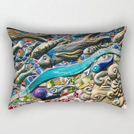 Glass Fish Rectangular Pillow