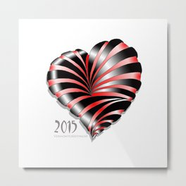 Forever love Valentine Illustration Metal Print