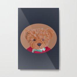 Teddy Line Portrait Metal Print
