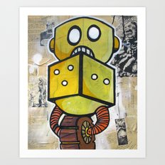 Dice Bot Art Print