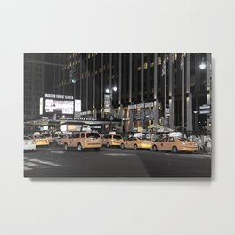 NY Taxis Metal Print