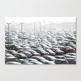 Sea of Cars Canvas Print