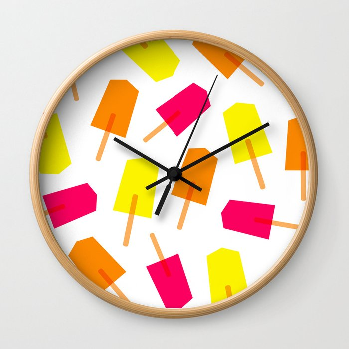 Ice Lollies 01 Wall Clock