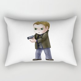 Chibi Dean Winchester (White BG) Rectangular Pillow
