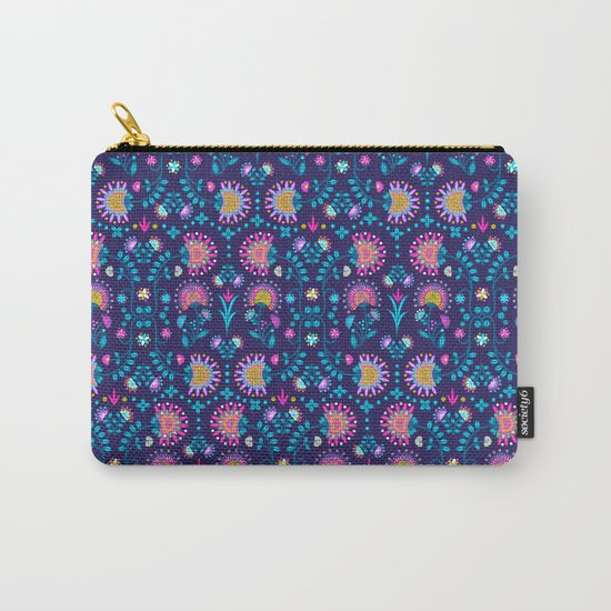 Folkloric In Blue Carry-All Pouch