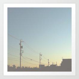early morning Art Print