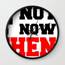 If Not Now , When? Fitness & Bodybuilding Motivation Quote Retro Style Wall Clock