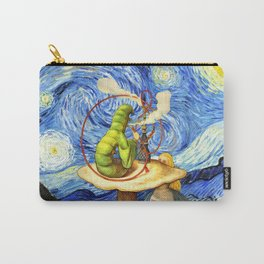 Alice & The Caterpillar Starry Night - Alice In Wonderland Carry-All Pouch