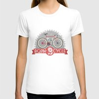 brompton T-shirts featuring Born To Cycle by Wyatt Design
