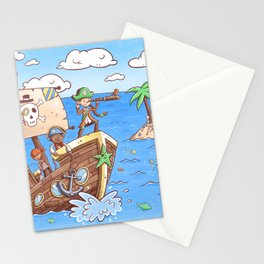 Even Pirates Need to Listen Stationery Cards