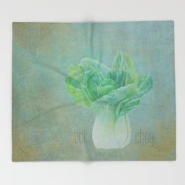 Bok Choy Still Life  Throw Blanket
