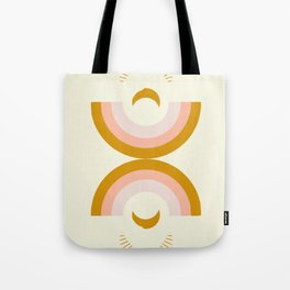 Moon rainbow Tote Bag