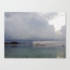 storm over the sea Canvas Print
