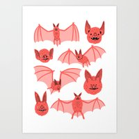 bats Art Prints featuring Bats by Jack Teagle