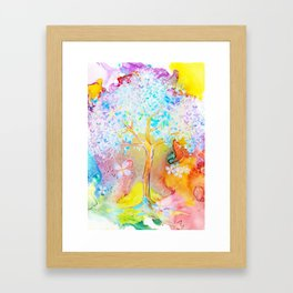 Tree of life painting Framed Art Print