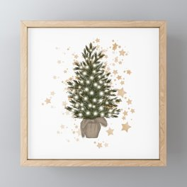 Christmas Tree Illustration Framed Mini Art Print