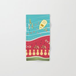 Summer Fun at the Watermelon Beach Hand & Bath Towel